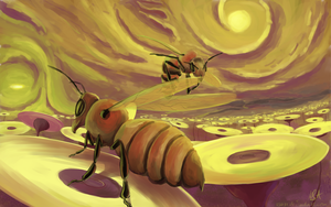 Digital bees by RSA91