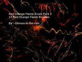 (Requested) Red-Orange Flame Gimp Brush Pack 2 by Demon-in-the-rain