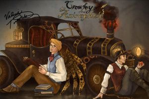 Steampunk Good Omens by kyriadalyn