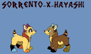 SorrentoxHayashi Pups for XKSilver by Sterling-Adopts