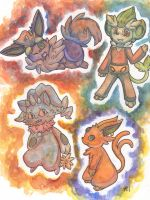 Watercolour Pokemon Batch 3 by Yakalentos