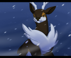 Winter buck by xNIR0x
