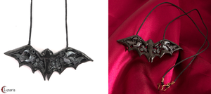 Bat necklace by Gardi89