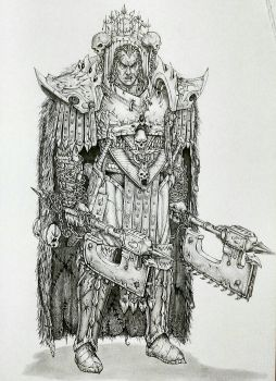 Primarch Angron by imaan8298