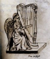 Angel of Music_Charcoal by German-Blood