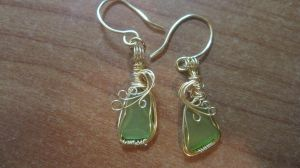 Seaglass Earrings by MoonlitCreek