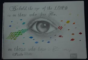 Psalm 33,18 by Asianchrist