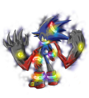 :Collab: Cursed Gamut Sonic V2 by Fly-Sky-High