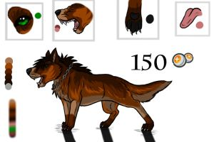 wolf / dog adoptable by wolfhound56200