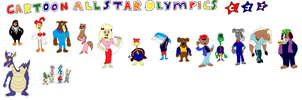 Cartoon All-Star Olympics Hosts and VIPs by tomyucho