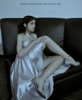 Silver dress stock II model by StarsColdNight