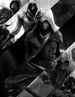 Assassin's in Black and White by OrochimaruXDD