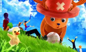 One Piece - Baseball by meiwren