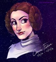 RIP Carrie Fisher by luniara