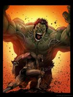 Hulk VS Wolverine Color by ChekydotStudio