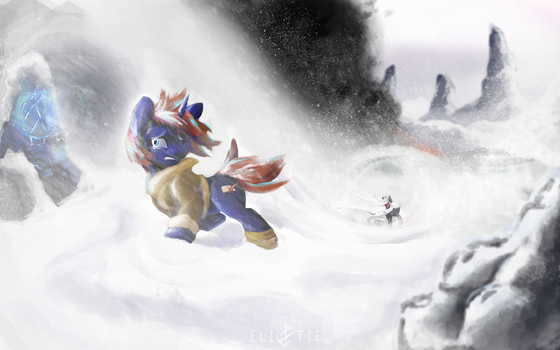 COMMISSION: Snowblind by Elicitie