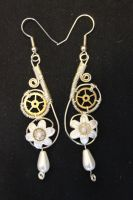 Steampunk Drop Earrings by Steve-Thorpe