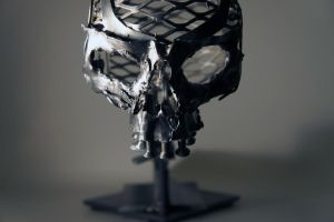 Scrap Metal Skull - 2 by Devin-Francisco