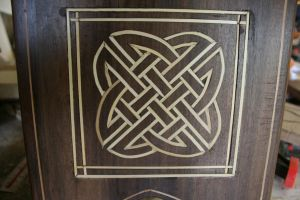 Celtic Knot Inlay on Stool by maclegno