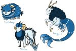 Water Starters: Lapisheep by Knupfel