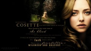 Wildness and Bravery: Cosette Wallpaper by JennAnamika