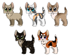 ADOPTABLES | Batch Five | CLOSED by rainwolfeh