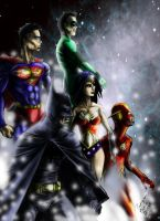 Justice league teleport by PierreDave85