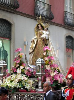 Virgin Mary del Carmen in Procession by Munequillas