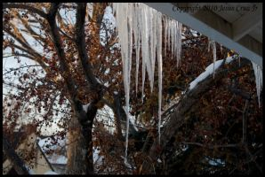 Porch Icicles II by urnightmare