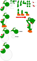 My Yoshi template by SuperUltraMarioFan