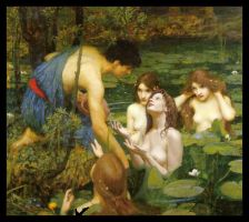 Hylas and the Nymphs by cyrano82