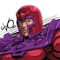 Digital Sketch Warm up 35 - Magneto by Vostalgic