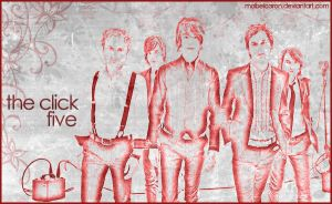 Click Five in red and grey by mabelcaron