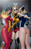 3 Marvel Girls By Paulo Siqueira by tony058