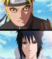 -Naruto and Sasuke- by JManuelC