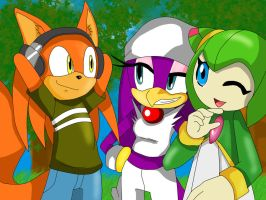 RQ:Chuck,Wave and Cosmo by ss2sonic