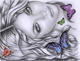 Butterfly Girl by hnedoocko