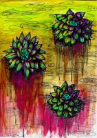 Water Lilies on Acid 2 by honey-art