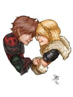 Hiccup and Astrid by Mister15to1