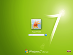 Win 7 Login for XP - Green by Rahul964