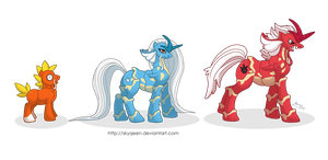 FuryLake Family Ponikemon by Almairis