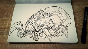 Baneling from Starcraft II by Pudig
