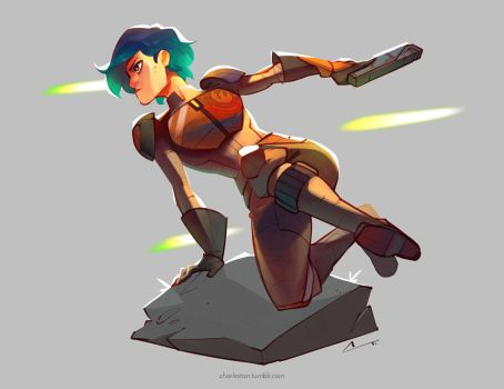 Sketch - Sabine (Colour) by charlestanart
