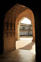 Agra Fort archways 1 by wildplaces