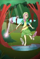 My Little Mages: Fluttershy in a Forest by Didj