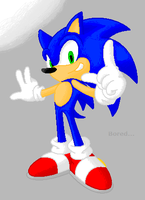 Sonic Drawing Day Pixelated by nothing111111