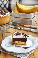 Chocolate and caramel banana pie by kupenska