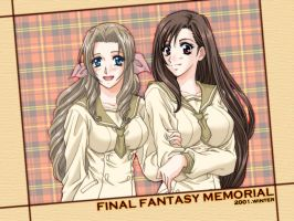 Tifa and Aeris by exSOLDIER-Cloud