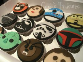 STAR WARS CUPCAKES...... The Baker Strikes Back by gertygetsgangster