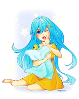 Sleepy Luna by whispwill